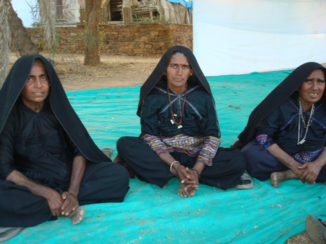 Rabari women - traditionally nomadic camel herders